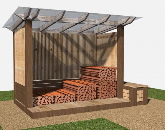 Построить сарай для дров 115